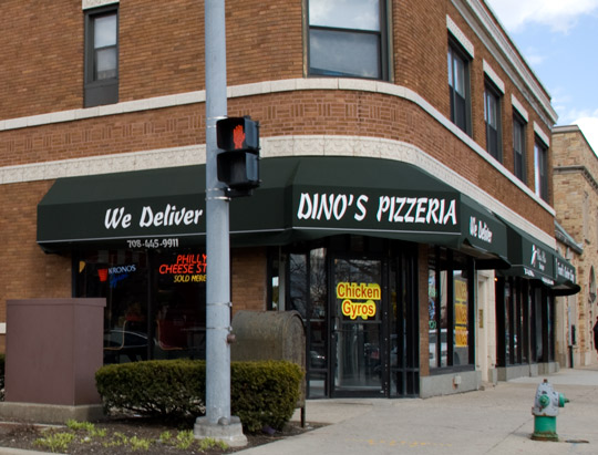 Dino's Pizzeria in Oak Park, Illinois