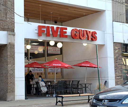 Five Guys Burgers Fries In Oak Park Illinois