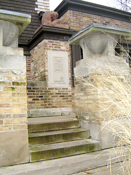 Frank Lloyd Wright Home in Oak Park, Illinois (close up of entrance/stair case)