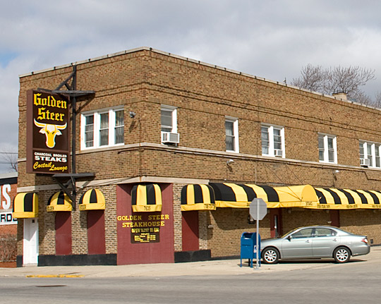 Golden Steer in Forest Park, Illinois