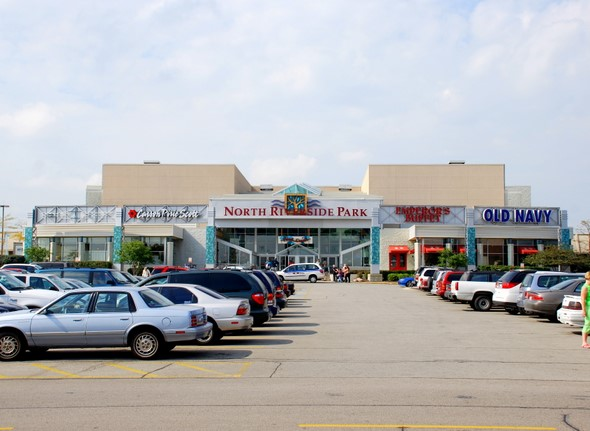 The North Riverside Park Mall in North Riverside, Illinois (east entrance, where the food court is located)