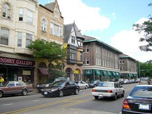 Downtown-Oak Park, Illinois - downtown (Oak Park Avenue) (medium sized photo)